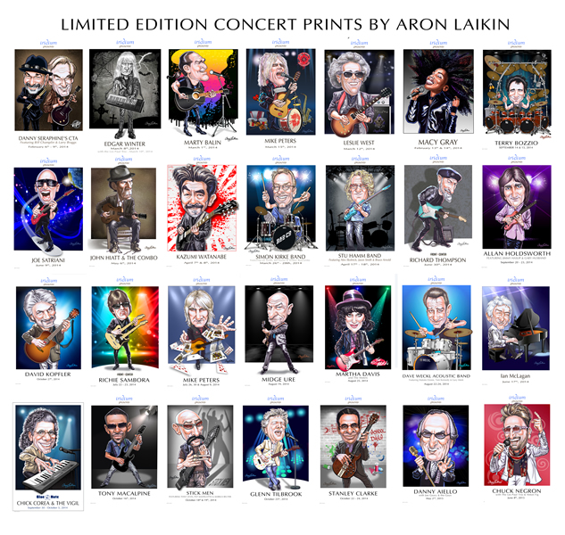 LIMITED EDITION TOUR PRINTS