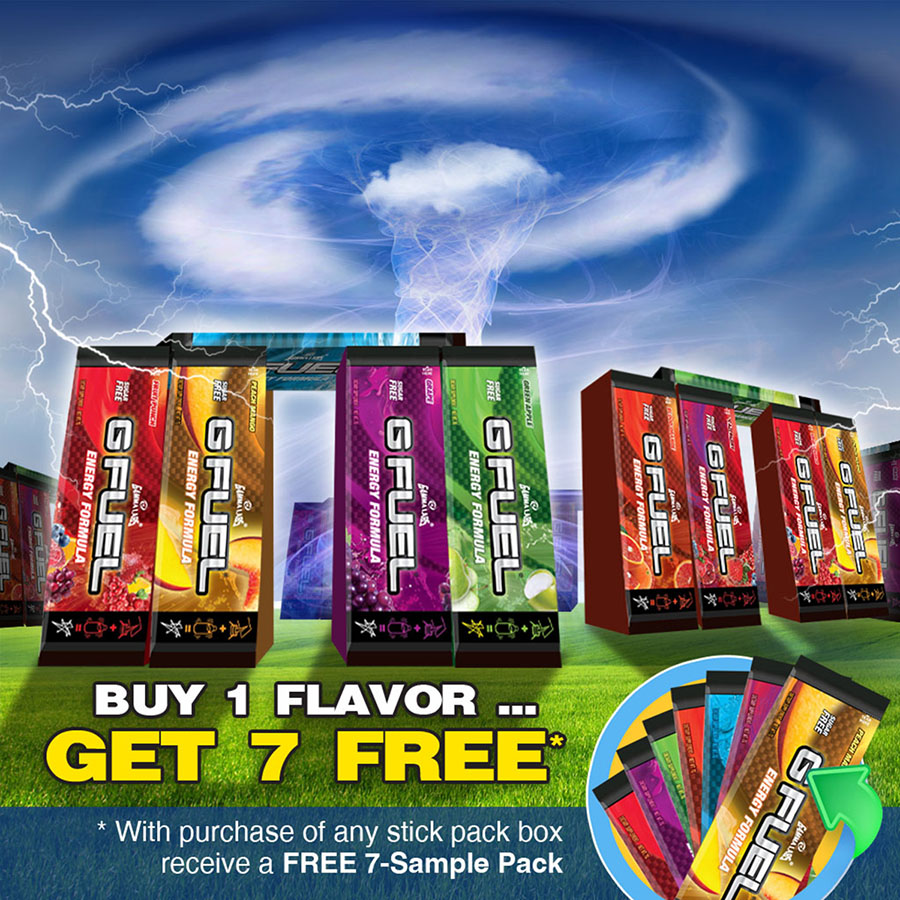 GFuel, Buy 1 get 1 FREE Ad Campaign.